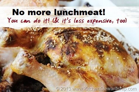 Easy roast chicken recipe, healthy lunchmeat alternative - moist every time, 5 minute prep, delicious spices :: via Kitchen Stewardship