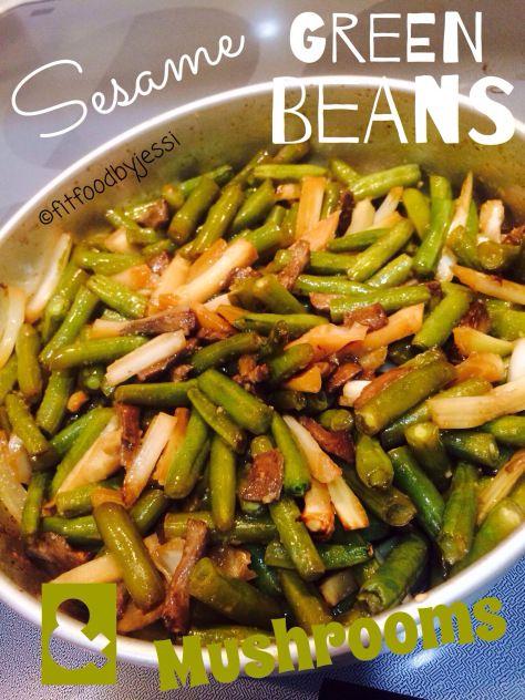 Sesame Green Beans & Mushrooms | Food | Pinterest