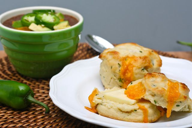 Cheddar, Chive, & Jalapeno Biscuits | New Recipes | Pinterest
