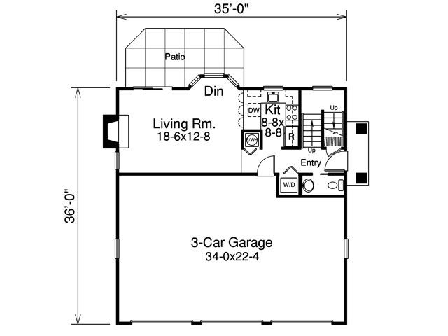 Apartment plans carriage house above garage Above all house plans