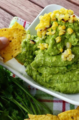 Grilled Corn & Poblano Guacamole | Cooking | Pinterest