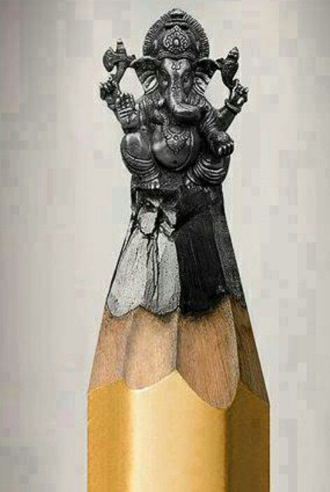 Eiffel tower pencil carving well done stuff