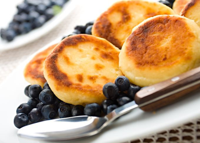 Gluten-free Blueberry Cottage Cheese Pancakes