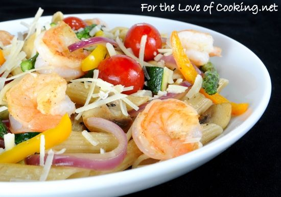 Summer Veggies with Pasta and Shrimp | Seafood | Pinterest
