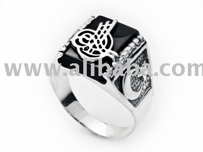 Silver ring with Ottoman empire symbolOttoman Empire Symbol