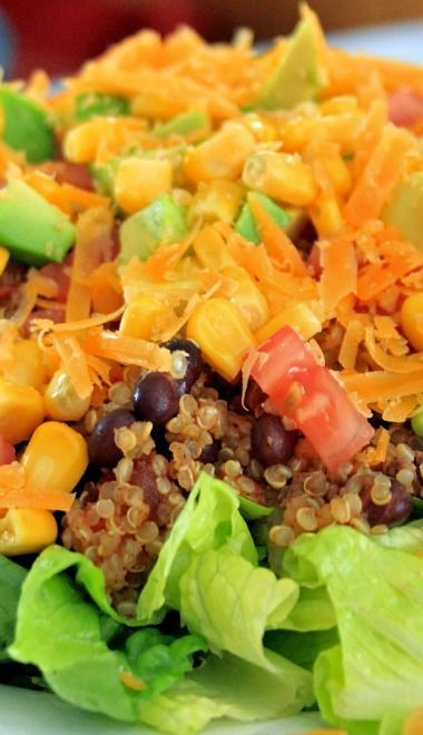 Quinoa Taco Salad Recipe | My belly wants to have: | Pinterest