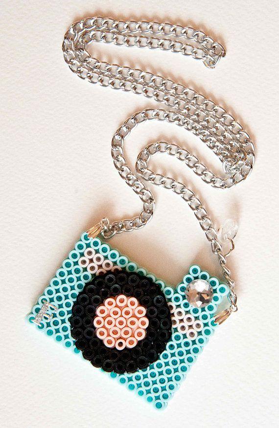 perler plastic necklace ooak