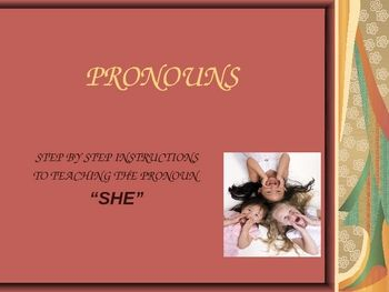 Step by step instructions on teaching children how to use pronouns....