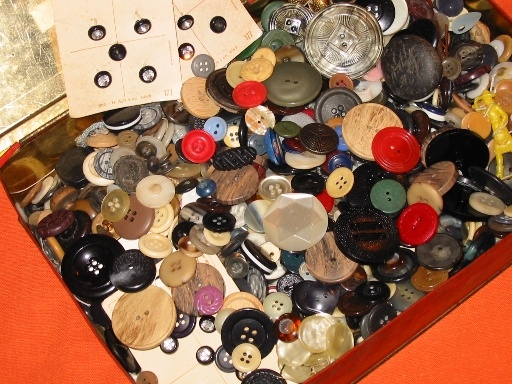 As a child, I loved playing in my mom's button box. It is still a relaxing thing to do.
