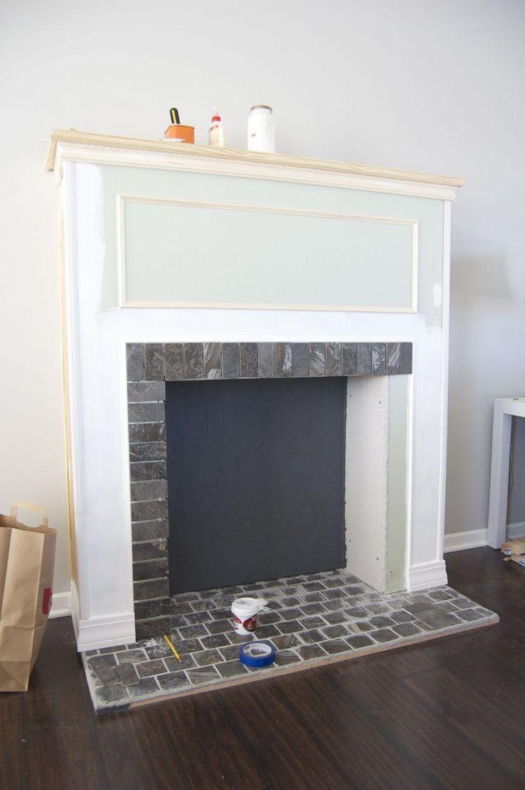 diy building a faux fireplace fireplaces