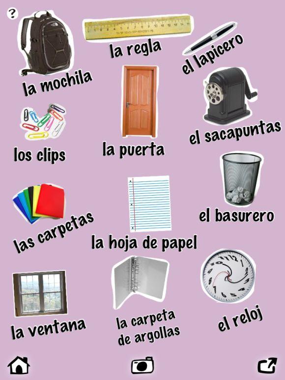 pin by elena l pez on spanish school unit pinterest. Black Bedroom Furniture Sets. Home Design Ideas