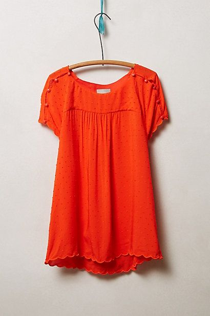 Clipdot Buttoned Tee - anthropologie.com