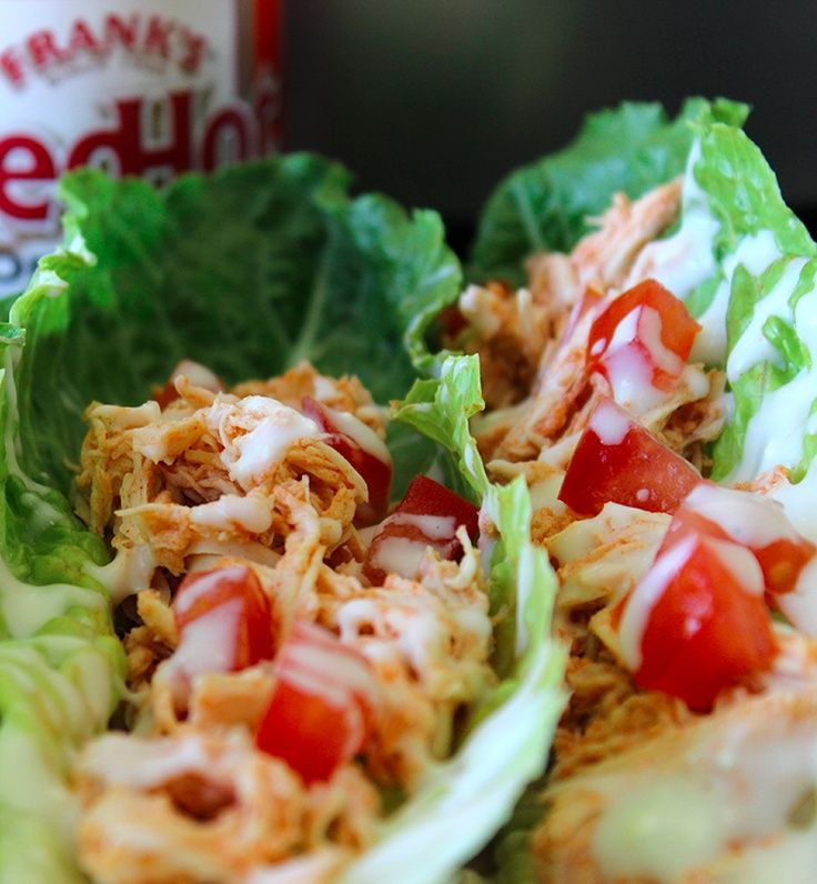 Crock-Pot Buffalo Chicken Lettuce Wraps- made something like this for ...