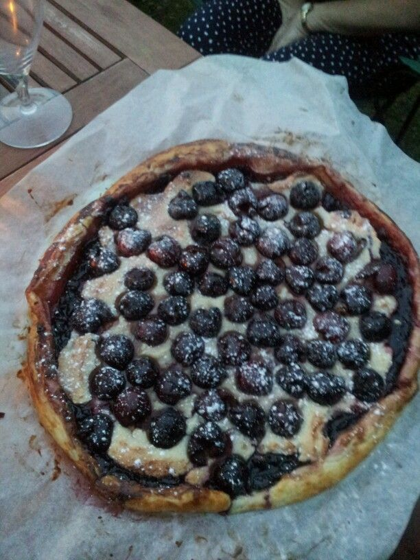 cherry and amaretto tart | Food memories | Pinterest