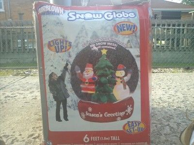 Snow globe airblown inflatable christmas and halloween and easter a