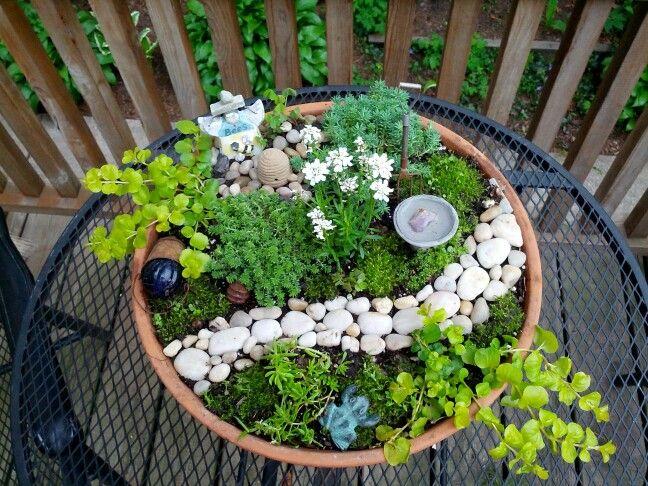 Fairy garden. | Container Gardening | Pinterest