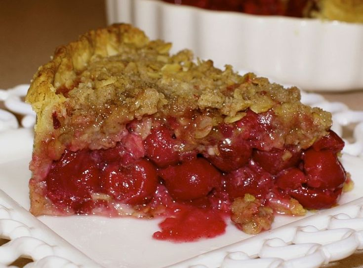 "Can't Lie - this is Real Sour-Cherry Streusel Pie"" Recipe ..."