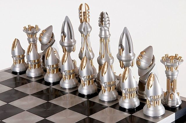 Mid century chess set mid century and cool chess sets pinterest - Coolest chess sets ...