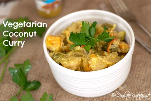 Vegetarian Coconut Curry | Thai/Curry/Cajun/Indian | Pinterest