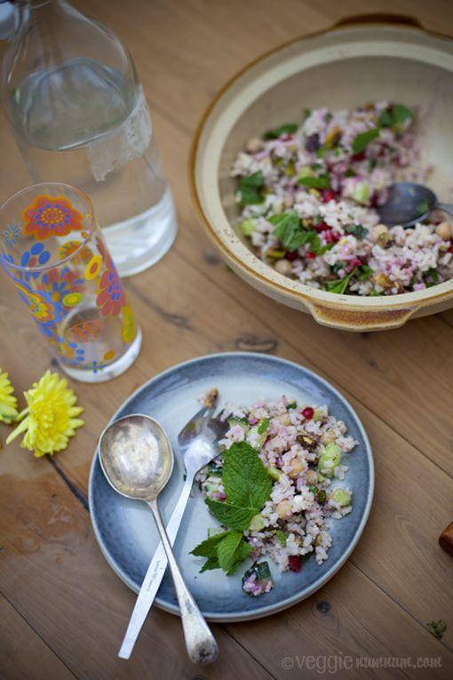 Festive Rice Salad w/ Pomegranate & Mint   [ Food Glorious Food ]   P ...