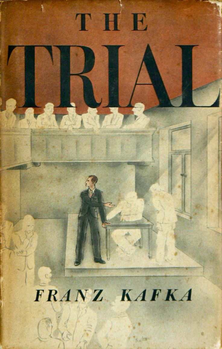 the trial by franz kafka as A bank clerk is arrested one day and searches through the absurd machinations of the legal system to discover the nature of the charges.
