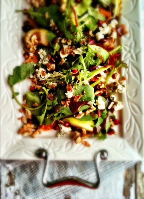 Roasted Butternut Squash Salad with Pears & Blue Cheese