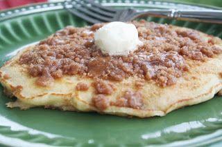 Cinnamon Streusel Pancakes. @Eva S. Basil