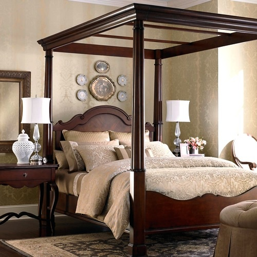 canopy four poster bed fourposter bed for the home pinterest