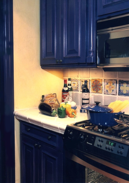 dark blue cabinets for kitchen  Beans dont burn in the KITCHEN  Pin