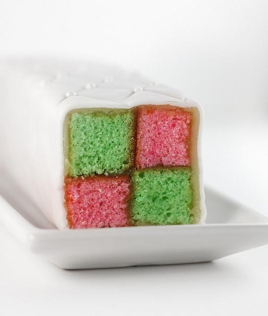 Battenburg cake- great for Christmas