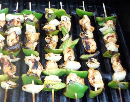 Grilled Chicken Fajita Kabobs | kabob krazy easy!! | Pinterest