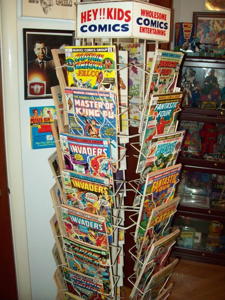 Comic book rack back in the day childhood memories and other likes - Comic book display shelves ...
