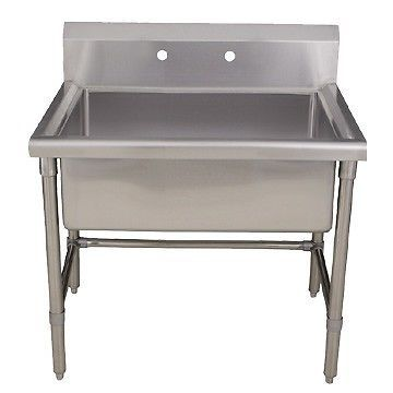 ... Stainless Steel Laundry Utility Sink w Adjustable Legs eBay 1648.00