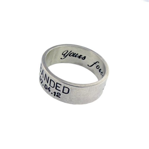 Duck Band Wedding Ring for Men