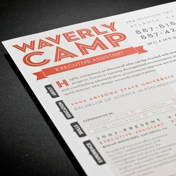 fab colorful custom typeset resumes typography