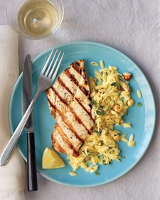chicken with oregano and lemon - serve with zucchini orzo and feta ...