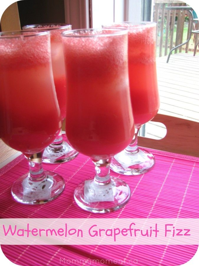 Watermelon Grapefruit Fizz Recipe (only 3 ingredients) Summer Drinks