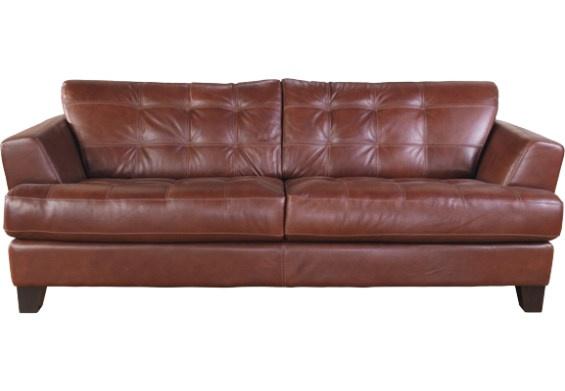 Avenue 100% Genuine Leather Sofa Brown