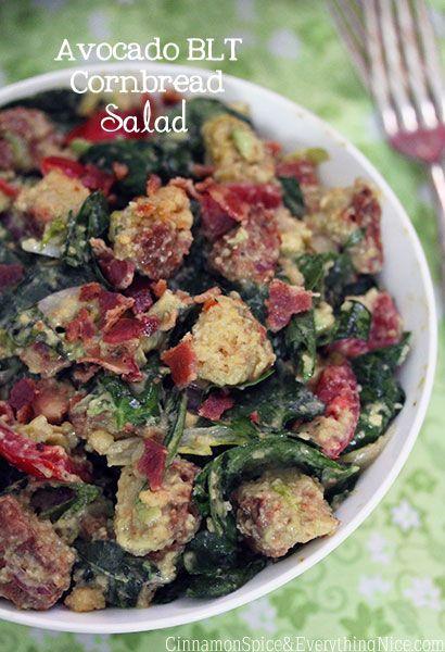 Avocado BLT Cornbread Salad | Food & Drink | Pinterest
