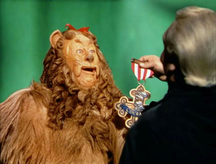 wizard of oz lion courage