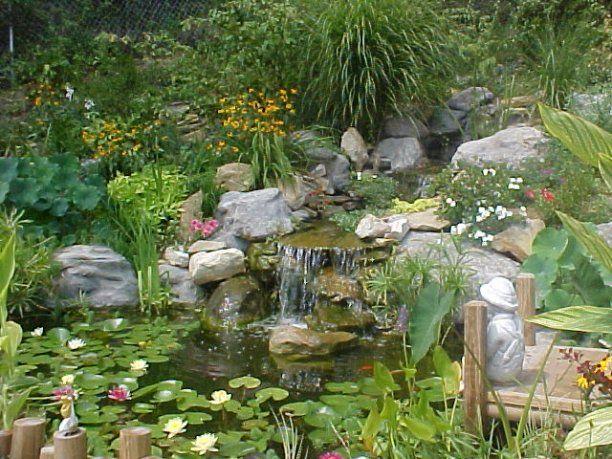 Waterfall Down A Hillside Rock Garden My Next Big