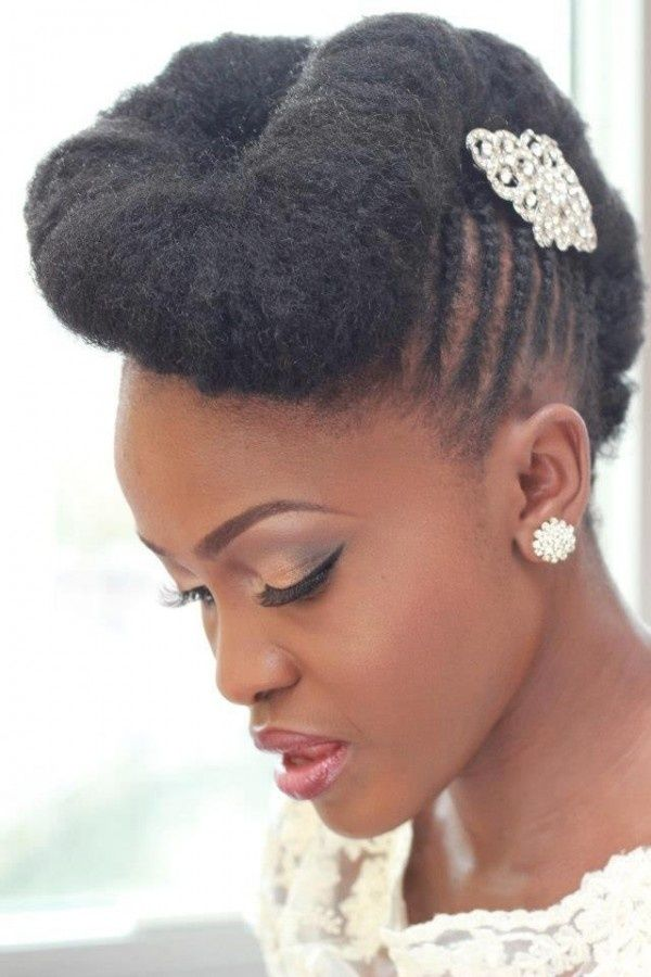 Updo Hair For Wedding Simple Wedding Hairstyle For Black Women