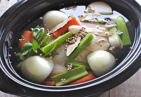 Slow Cooker Chicken Stock | Recipe