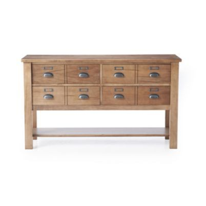 39 39 apothecary 39 39 library sofa table with 4 drawers for Apothecary table