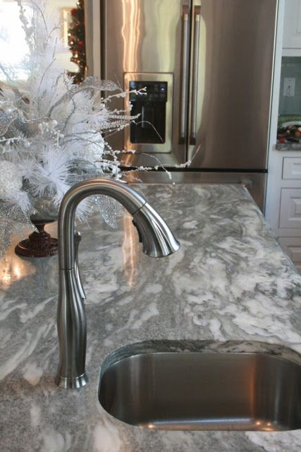 Gray Granite Countertops : ... cupboards, gray granite countertops and stainless steel appliances