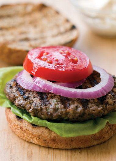 Beef, bulgur and bean burger #recipe
