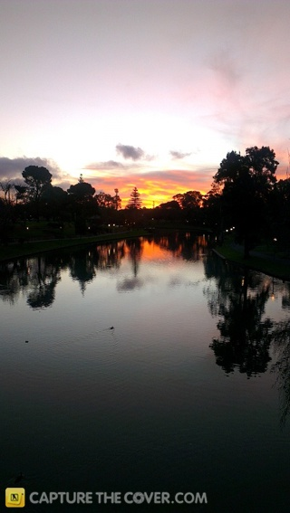 Sunset over the River Torrens - #CaptureTheCover entry by Ben in SA's City to Bay Region