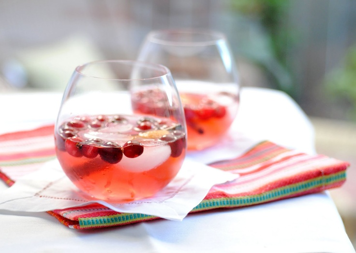 Cranberry Spice White Wine Sangria | Favorite Recipes | Pinterest