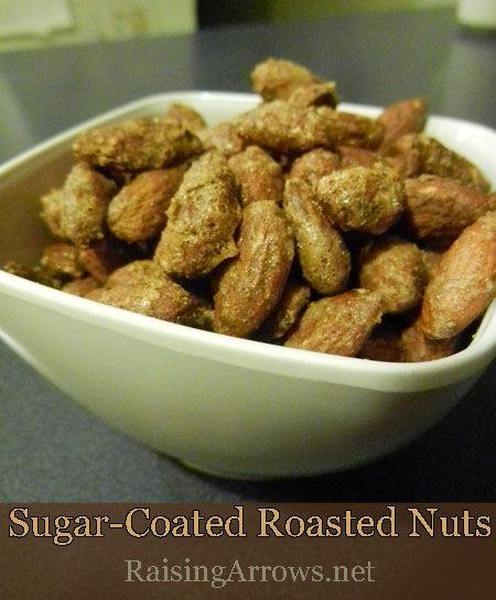 Sugar Coated Roasted Nuts | Christmas Snacks | Pinterest