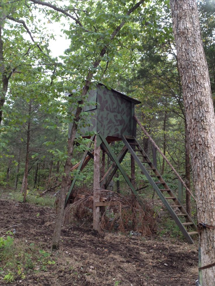 sons cool deer stand diy hunting pinterest